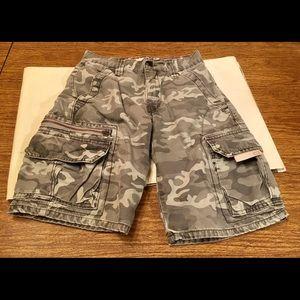 Levi's Workwear Sz 10 Boys Cargo Camouflage Shorts